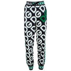Dolce & Gabbana Multicolor DG Mania Print Cotton Jersey Track Pants IT 44