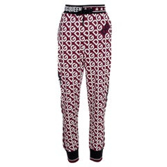 Dolce & Gabbana Multicolor DG Mania Print Cotton Jersey Track Pants IT 48