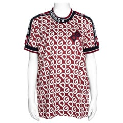 Dolce & Gabbana Multicolor DG Mania Print Jersey Crew Neck T Shirt IT 42