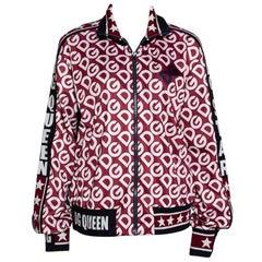 Dolce & Gabbana Multicolor DG Mania Print Jersey Zip-Up Sweatshirt IT 44