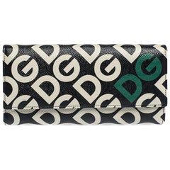 Dolce & Gabbana Multicolor DG Mania Print Leather Continental Wallet