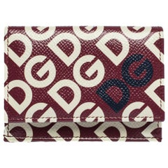 Dolce & Gabbana Multicolor DG Mania Print Leather Small Trifold Continental Wall