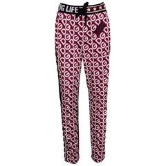 Dolce & Gabbana Multicolor DG Mania Print Technical Fabric Track Pants IT 44