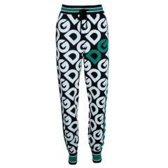 Dolce & Gabbana Multicolor DG Mania Print Wool Track Pants IT 38