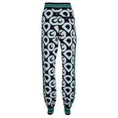 Dolce & Gabbana Multicolor DG Mania Print Wool Track Pants IT 42