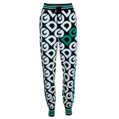 Dolce & Gabbana Multicolor DG Mania Print Wool Track Pants IT 44