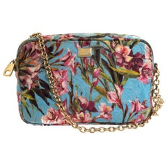 Dolce & Gabbana Multicolor Floral Print Fabric Miss Glam Chain Shoulder Bag