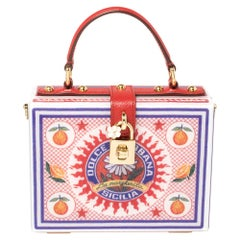 Dolce & Gabbana Multicolor Plexiglass and Leather Dolce Box Top Handle Bag