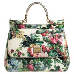 Dolce & Gabbana Multicolor Print Patent Leather Miss Sicily Top Handle Bag