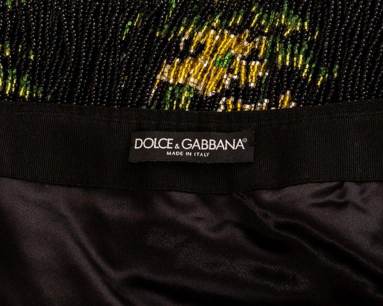 Dolce & Gabbana multicoloured rhinestone beaded fringed mini skirt, ss 2000 For Sale 3