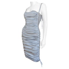 Dolce & Gabbana New Lace up Sides Silk Dress