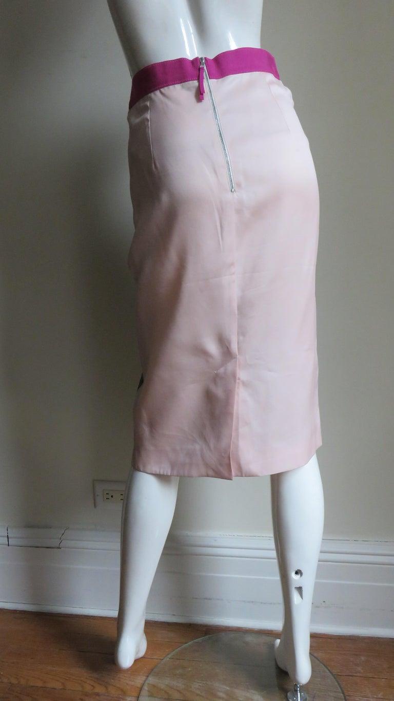 Dolce & Gabbana New Roses Color Block Silk Skirt For Sale 9