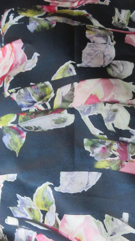 Dolce & Gabbana New Roses Color Block Silk Skirt For Sale 3