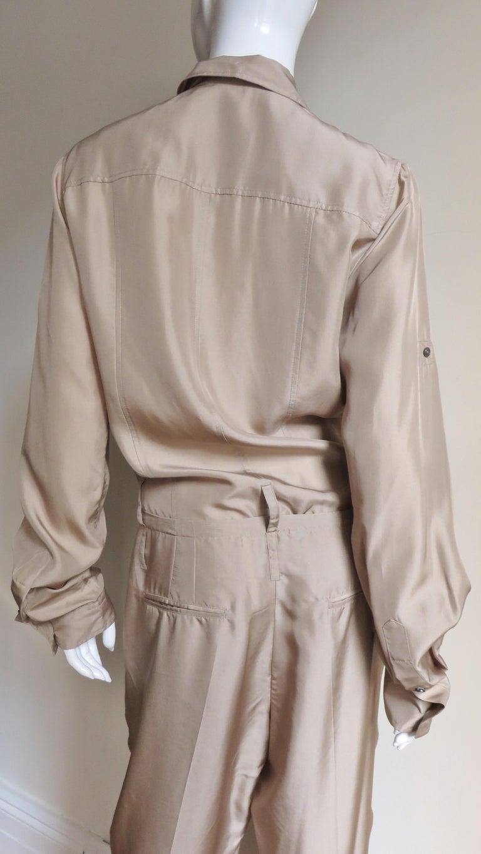 Dolce & Gabbana New Silk Capri Jumpsuit For Sale 9
