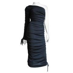Dolce & Gabbana One Sleeve Side Lace up Dress
