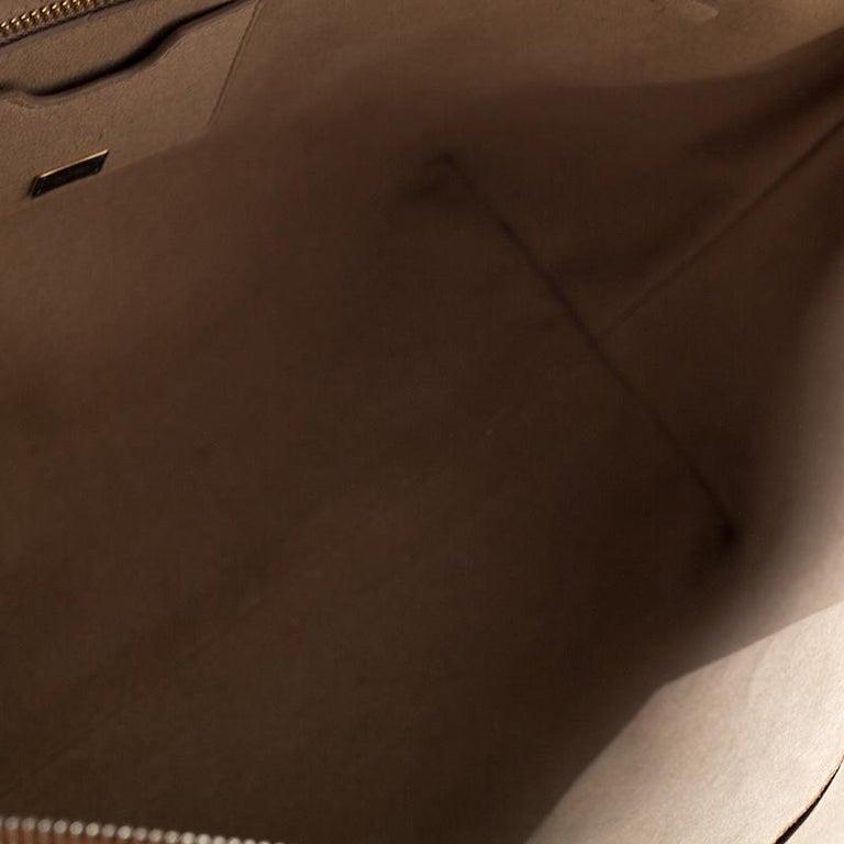 Dolce & Gabbana Orange Leather Escape Shopper Tote For Sale 4