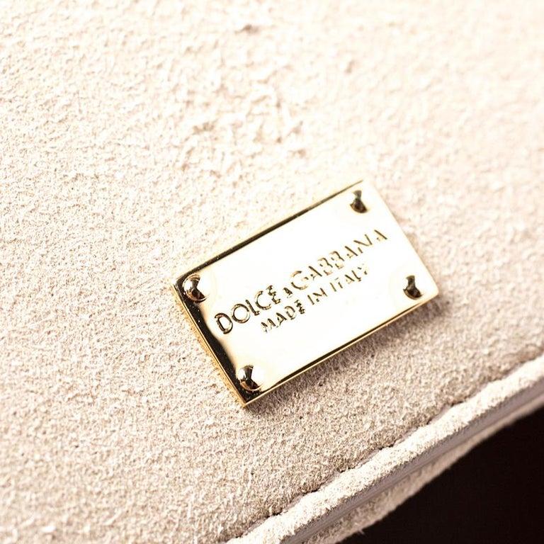 Dolce & Gabbana Orange Leather Escape Shopper Tote For Sale 5