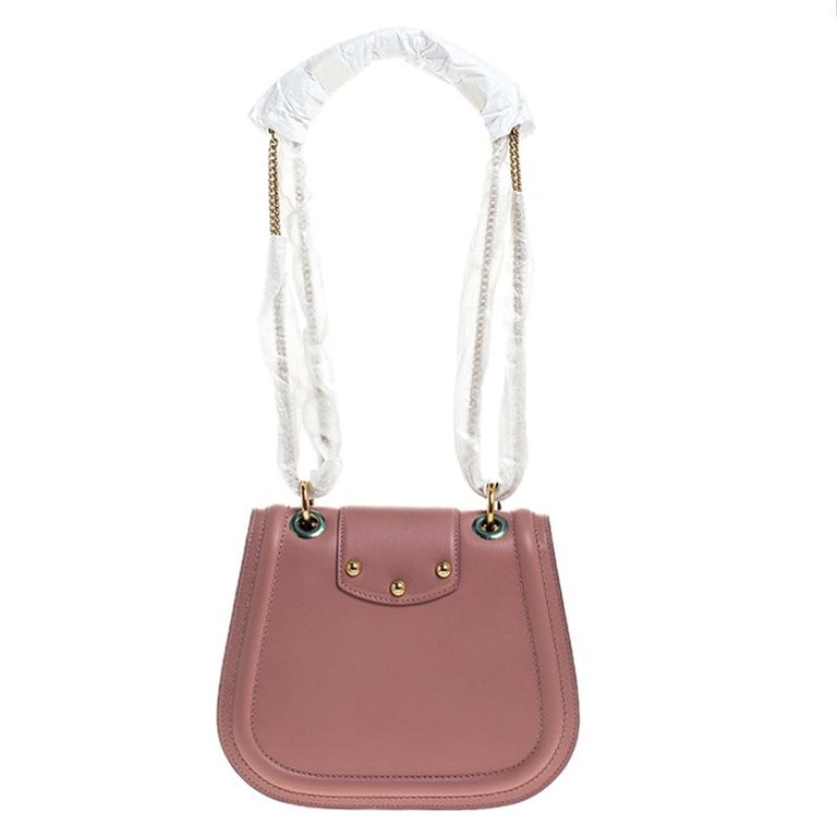 Dolce & Gabbana Pastel Pink Leather Small Amore Crossbody Bag For Sale 3