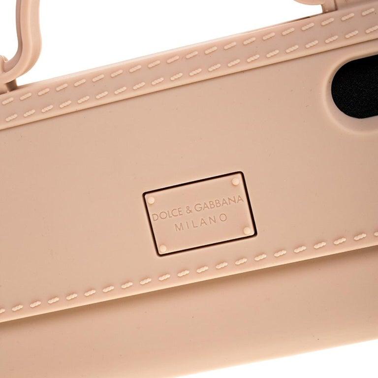 Dolce & Gabbana Peach Rubber Sicily iPhone X - XS Chain Case For Sale 3