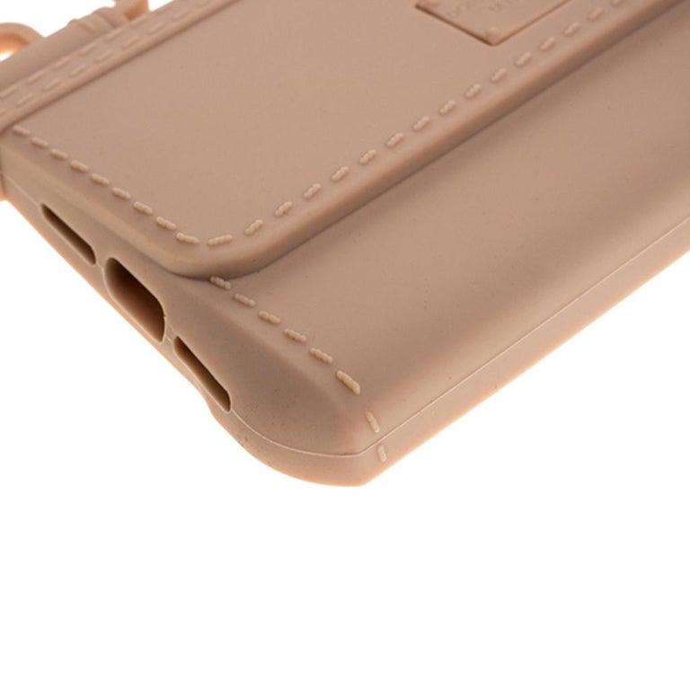 Dolce & Gabbana Peach Rubber Sicily iPhone X - XS Chain Case For Sale 4