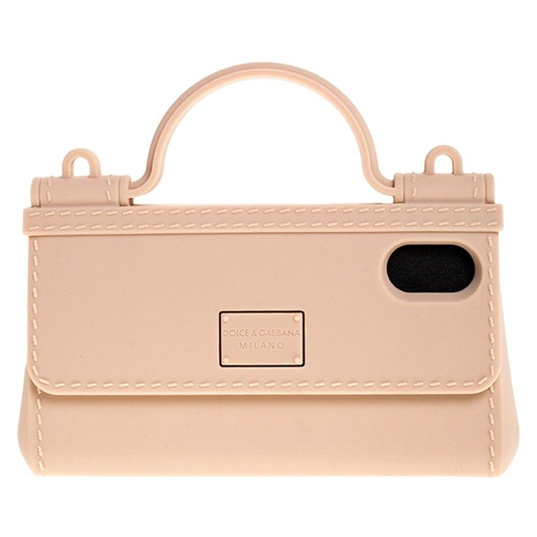 Dolce & Gabbana Peach Rubber Sicily iPhone X - XS Chain Case For Sale