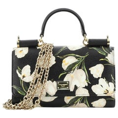 Dolce & Gabbana Phone Holder Clutch Printed Leather