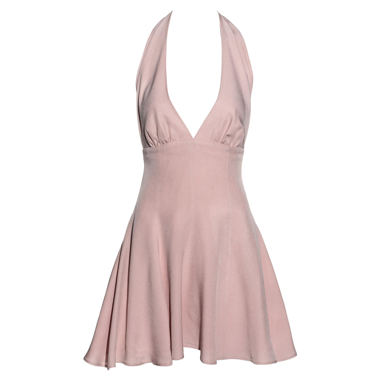 Dolce & Gabbana pink crepe halter-neck skater dress, ss 1995