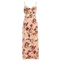 Dolce & Gabbana pink floral printed silk dress, ss 1997