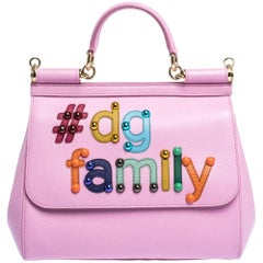 Dolce & Gabbana Pink Leather #dg family Medium Miss Sicily Bag