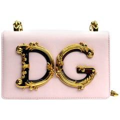 Dolce & Gabbana Pink Leather DG Girls Bag
