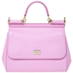 Dolce & Gabbana Pink Leather Medium Miss Sicily Bag