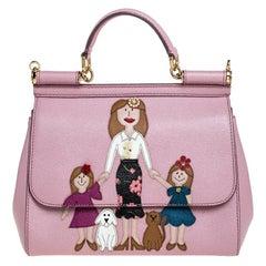 Dolce & Gabbana Pink Leather Medium Viva La Mamma Miss Sicily Bag