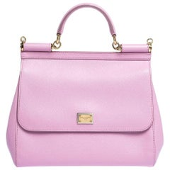 Dolce & Gabbana Pink Leather Miss Sicily Bag