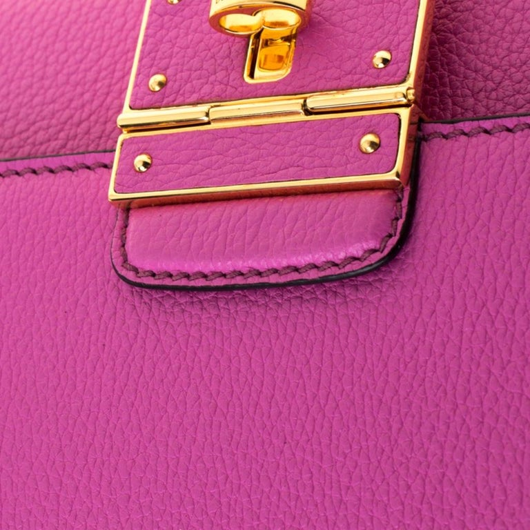 Dolce & Gabbana Pink Leather Rosalia Crossbody Bag For Sale 3