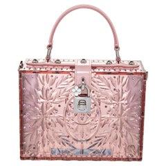 Dolce & Gabbana Pink Plexiglass Cinderella Top Handle Bag