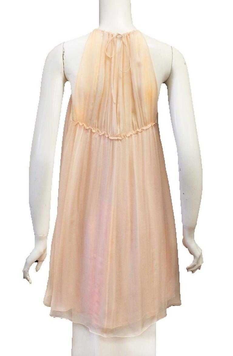 Women's Dolce & Gabbana Pink Silk Baby Doll Mini Dress
