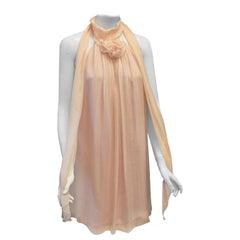 Dolce & Gabbana Pink Silk Baby Doll Mini Dress
