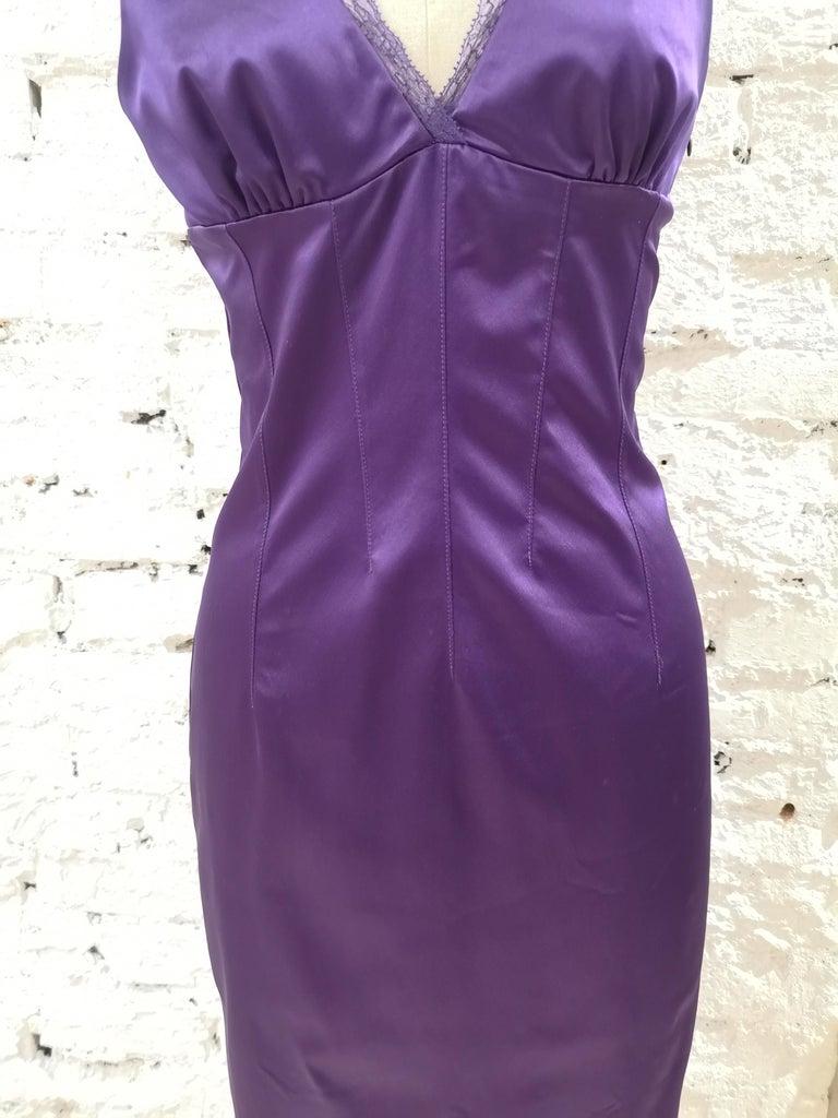 Dolce & Gabbana purple dress In Excellent Condition In Capri, IT