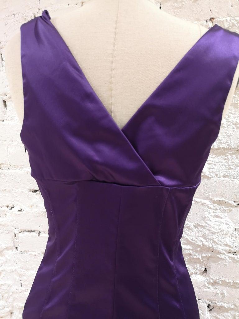 Dolce & Gabbana purple dress 1