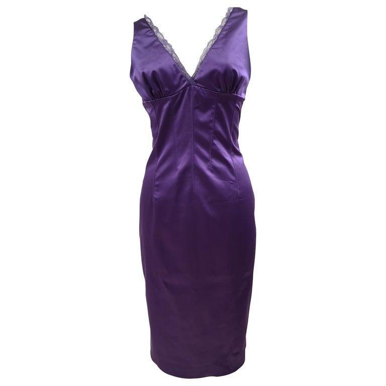Dolce & Gabbana purple dress