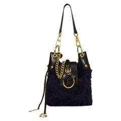 Dolce & Gabbana Purple Fur Bag with Chain Strap