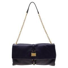 Dolce & Gabbana Purple Leather Chain Shoulder Bag
