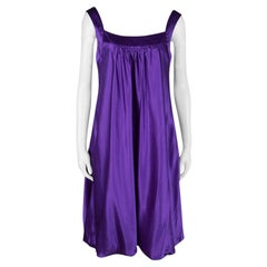 Dolce & Gabbana Purple Silk Satin Sleeveless Balloon Dress S