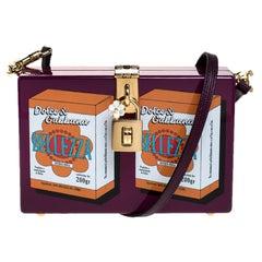 Dolce & Gabbana Purple Wood Bellezza Box Clutch