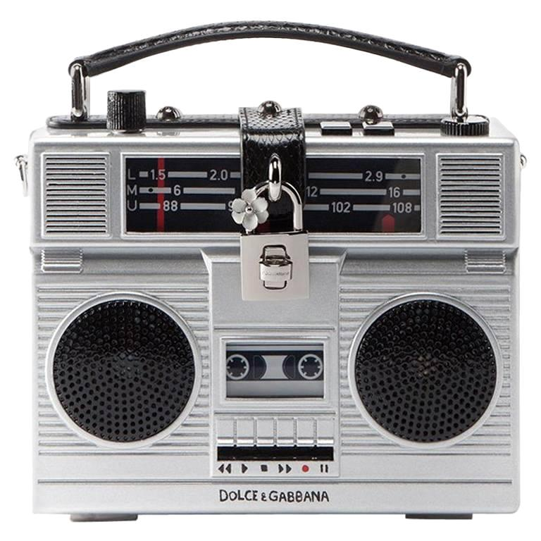 Dolce & Gabbana Radio Bag Plays Music Connect To I-Phone Boom Box Retail  $8,895 For Sale
