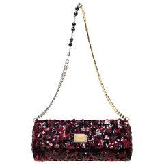 Dolce & Gabbana Red/Black Sequin Miss Charles Shoulder Bag