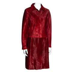 Dolce & Gabbana red pony hair single breasted coat, fw 1999