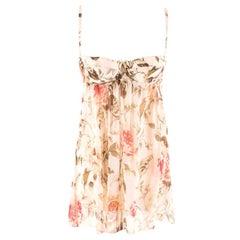 Dolce & Gabbana Rose-Print Underwired camisole top FR 38