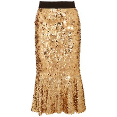Dolce & Gabbana Ruffled Sequined Tulle Skirt