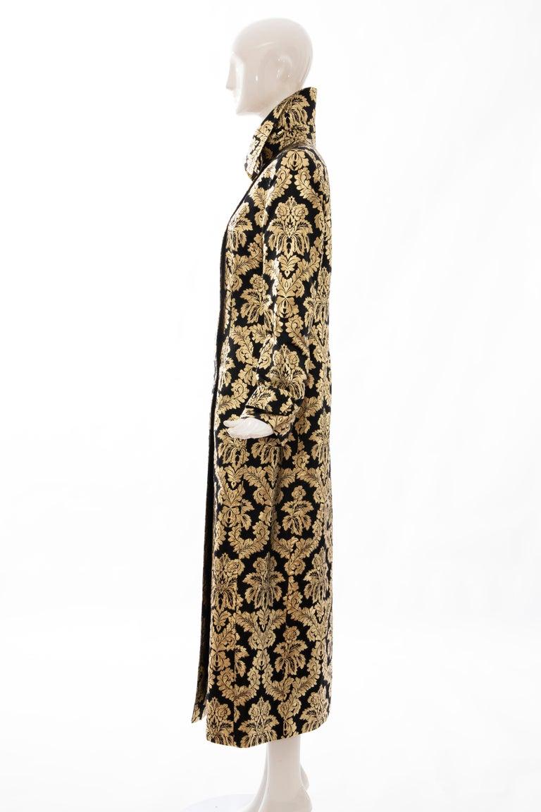 Dolce & Gabbana Runway Black Silk Gold Floral Brocade Evening Jacket, Fall 2000 5